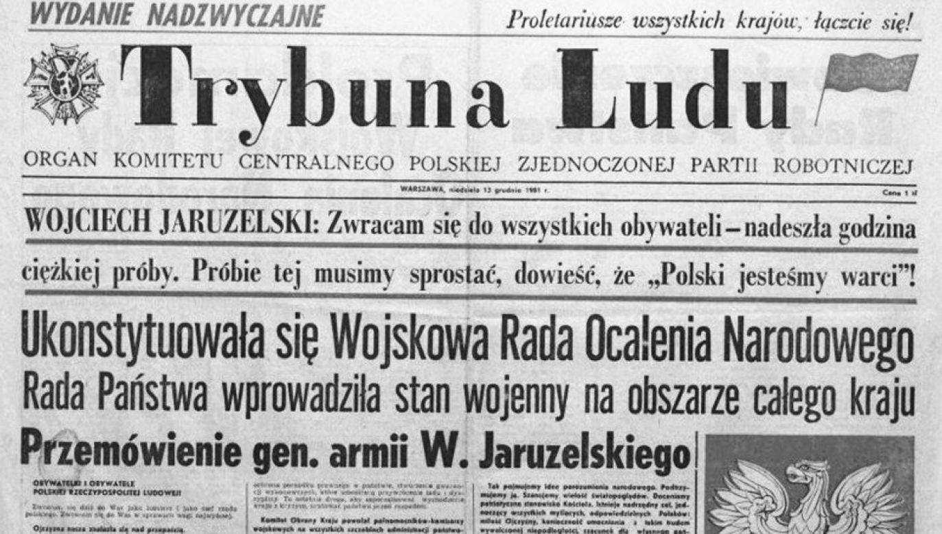 Stan wojenny ogłoszono 13 grudnia 1981 roku (fot. Twitter/Stanisław Karczewski)
