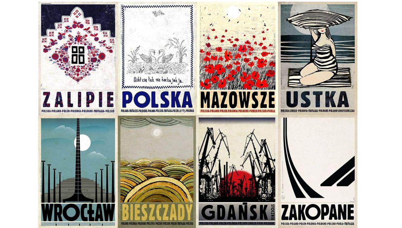 Ryszard Kaja był cenionym autorem plakatów, m.in. serii z polskimi miastami (fot. Materiały prasowe)