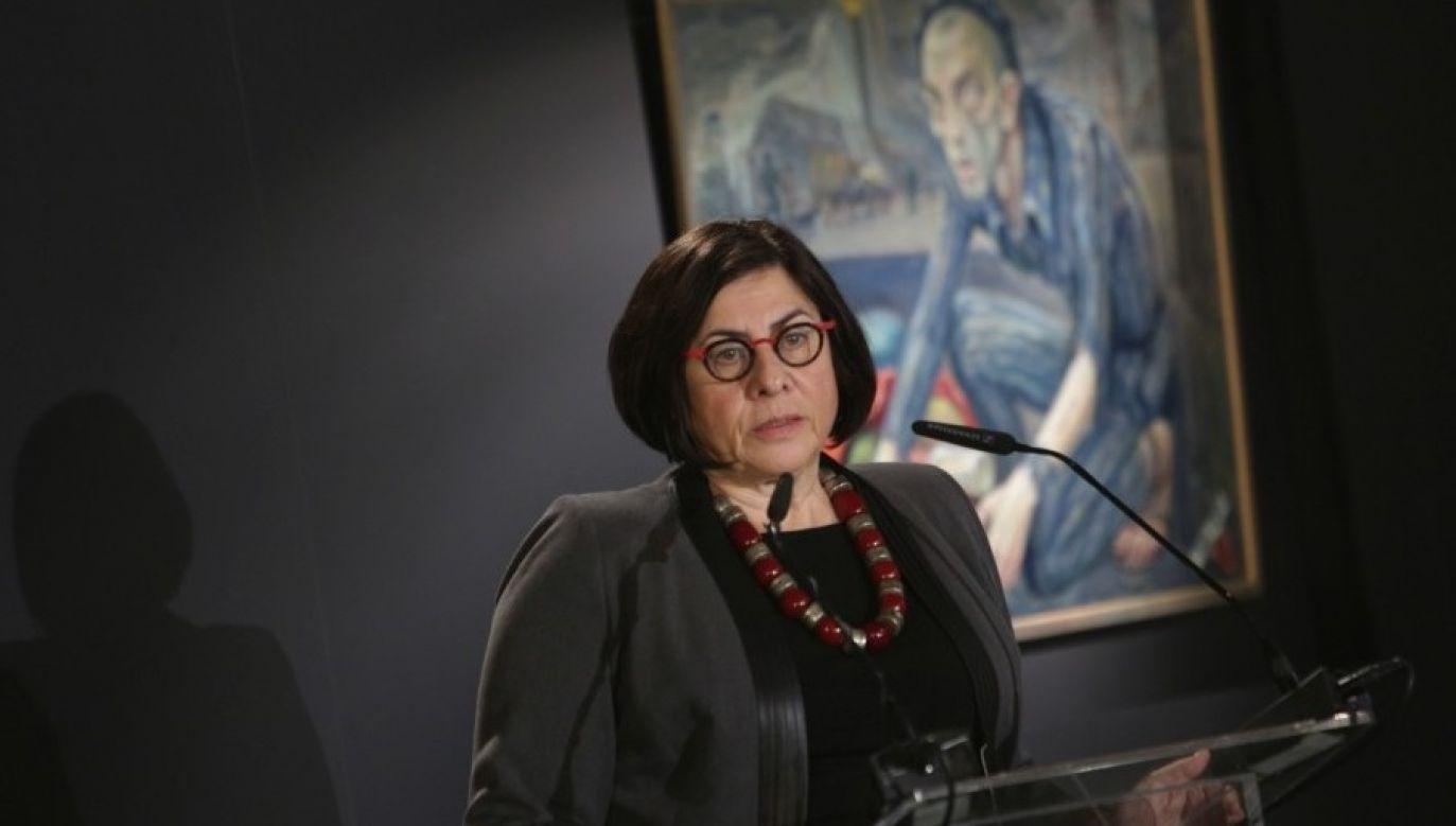 Israeli Ambassador to Poland Anna Azari. Photo: Jarosław Praszkiewicz, Muzeum Auschwitz