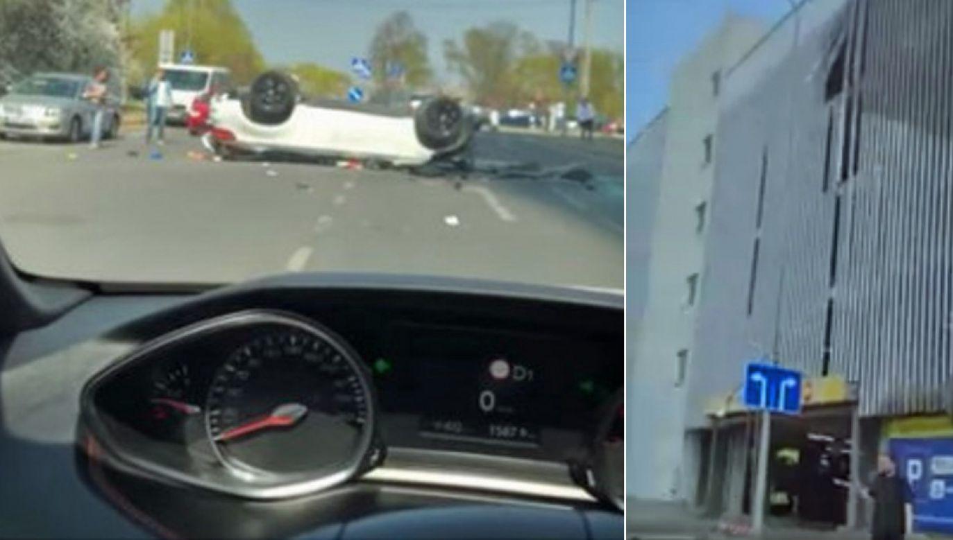 Kobieta kierująca bmw trafiła do szpitala (fot. FB/Automobiliai iš JAV aukcionų)
