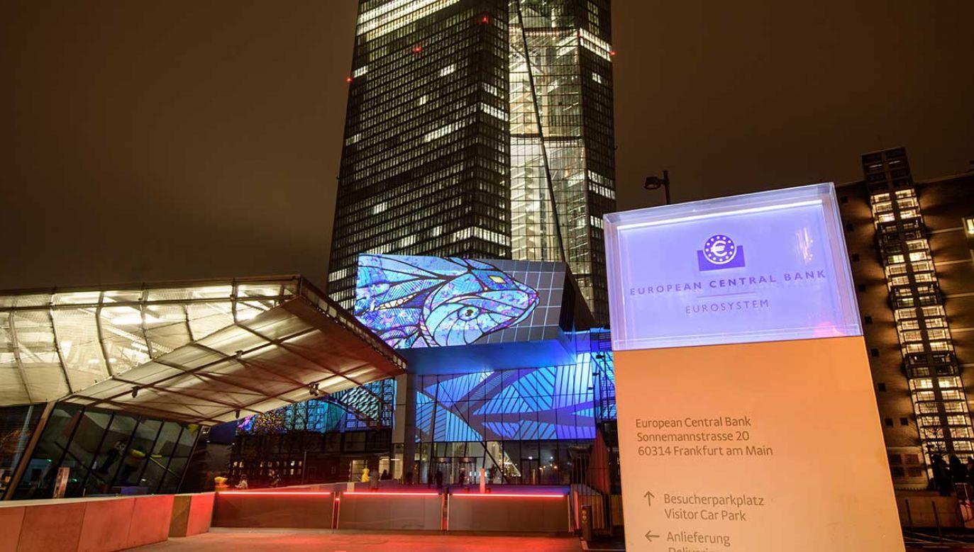 Europejski Bank Centralny we Frankfurcie nad Menem (fot. Thomas Lohnes/Getty Images)