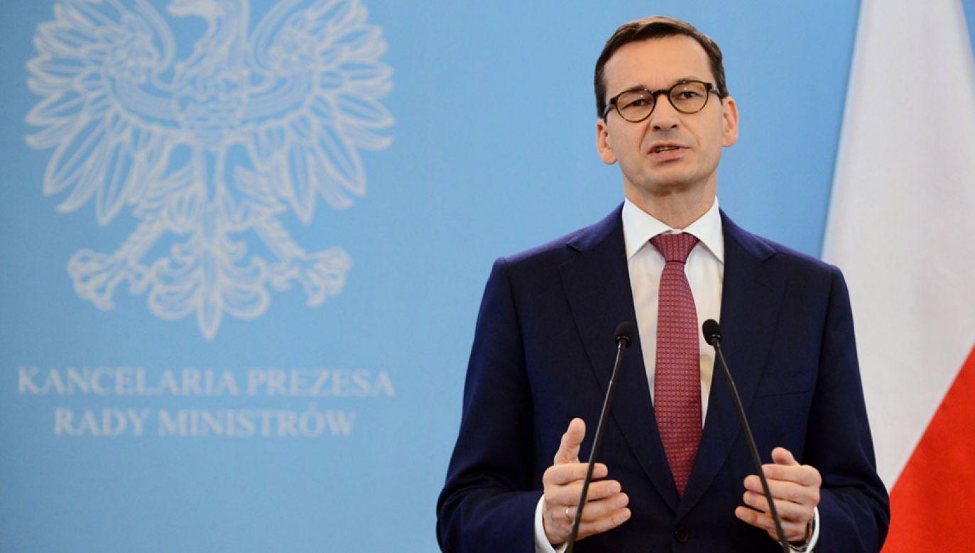 Premier Mateusz Morawiecki (fot. PAP/Jakub Kamiński)