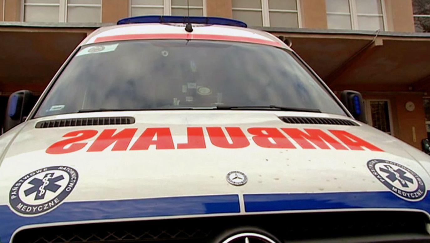 Matthew L. został przewieziony do szpitala (fot. TVP3 Bydgoszcz)
