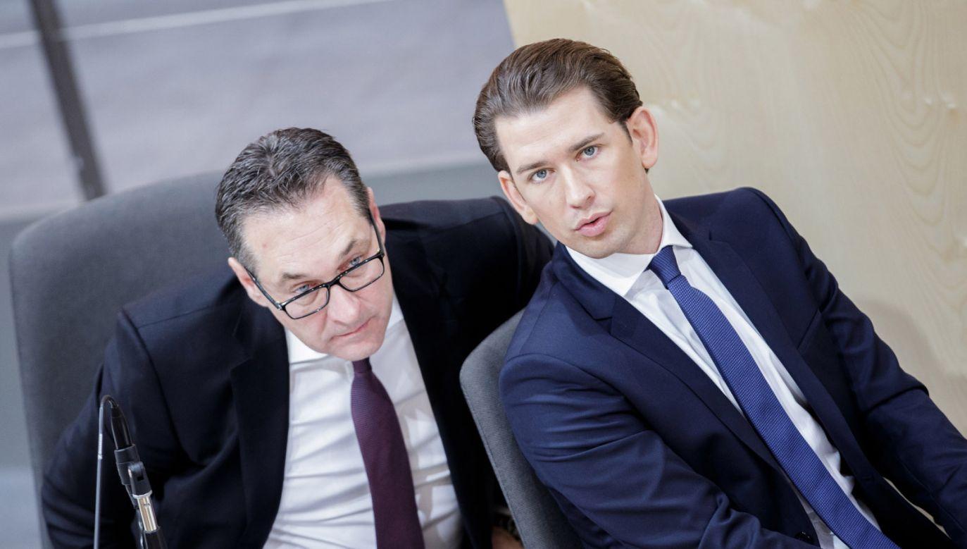 Hans-Christian Strache podał się do dymisji (fot. PAP/EPA/LISI NIESNER)