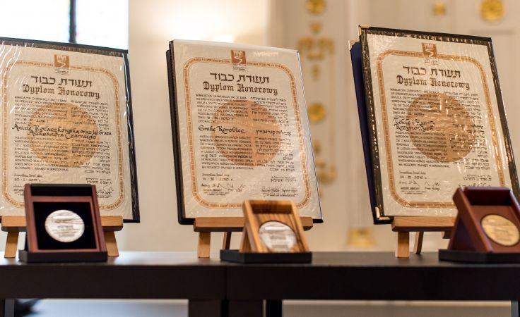Wyróżnienia zostały wręczone we wrocławskiej synagodze PAP/Maciej Kulczyński