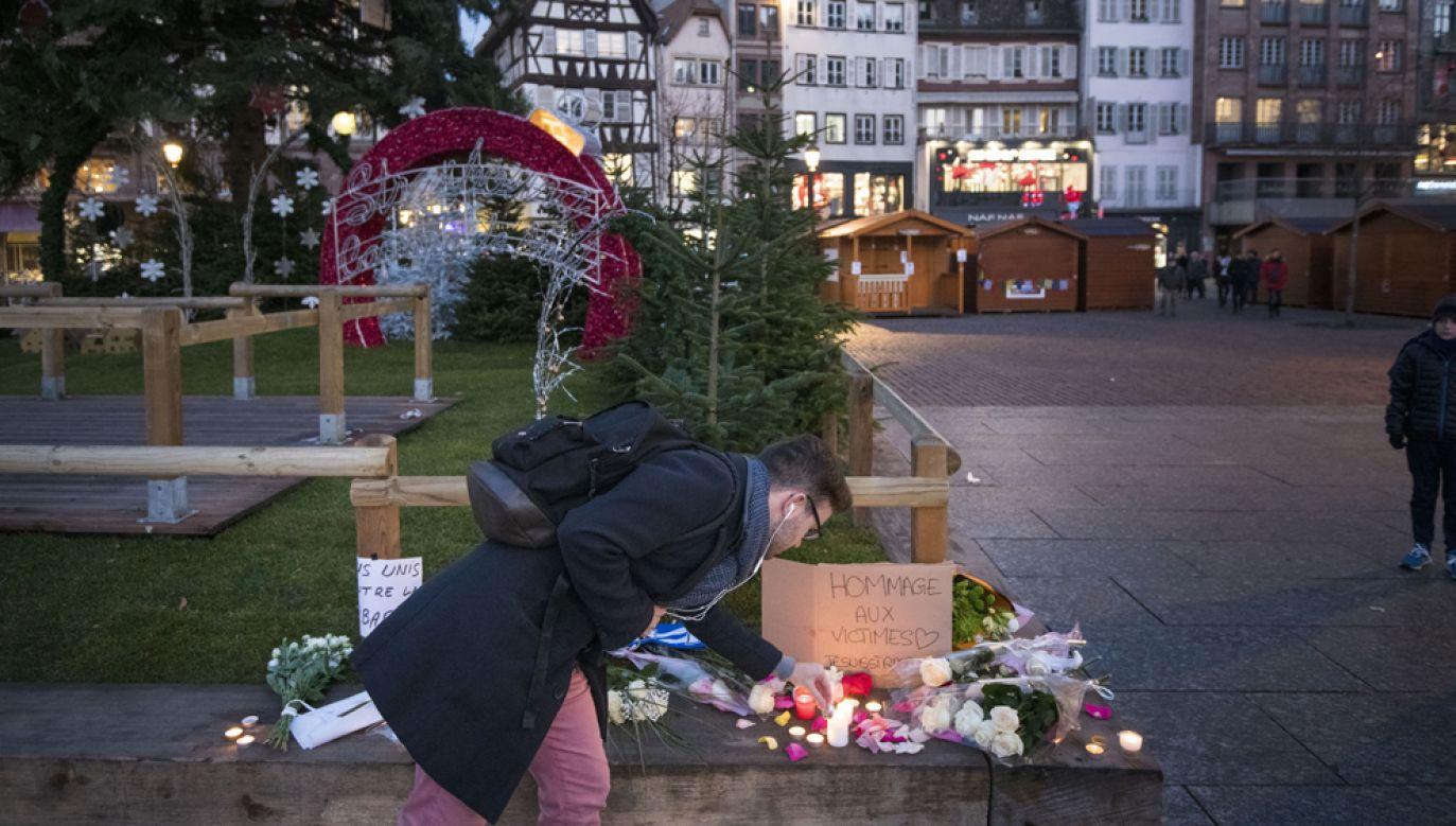 We wtorek w położonym w pobliżu Herrlisheim Strasburgu 29-letni Cherif Chekatt otworzył ogień w centrum miasta, w pobliżu jarmarku bożonarodzeniowego (fot. Thomas Lohnes/Getty Images)
