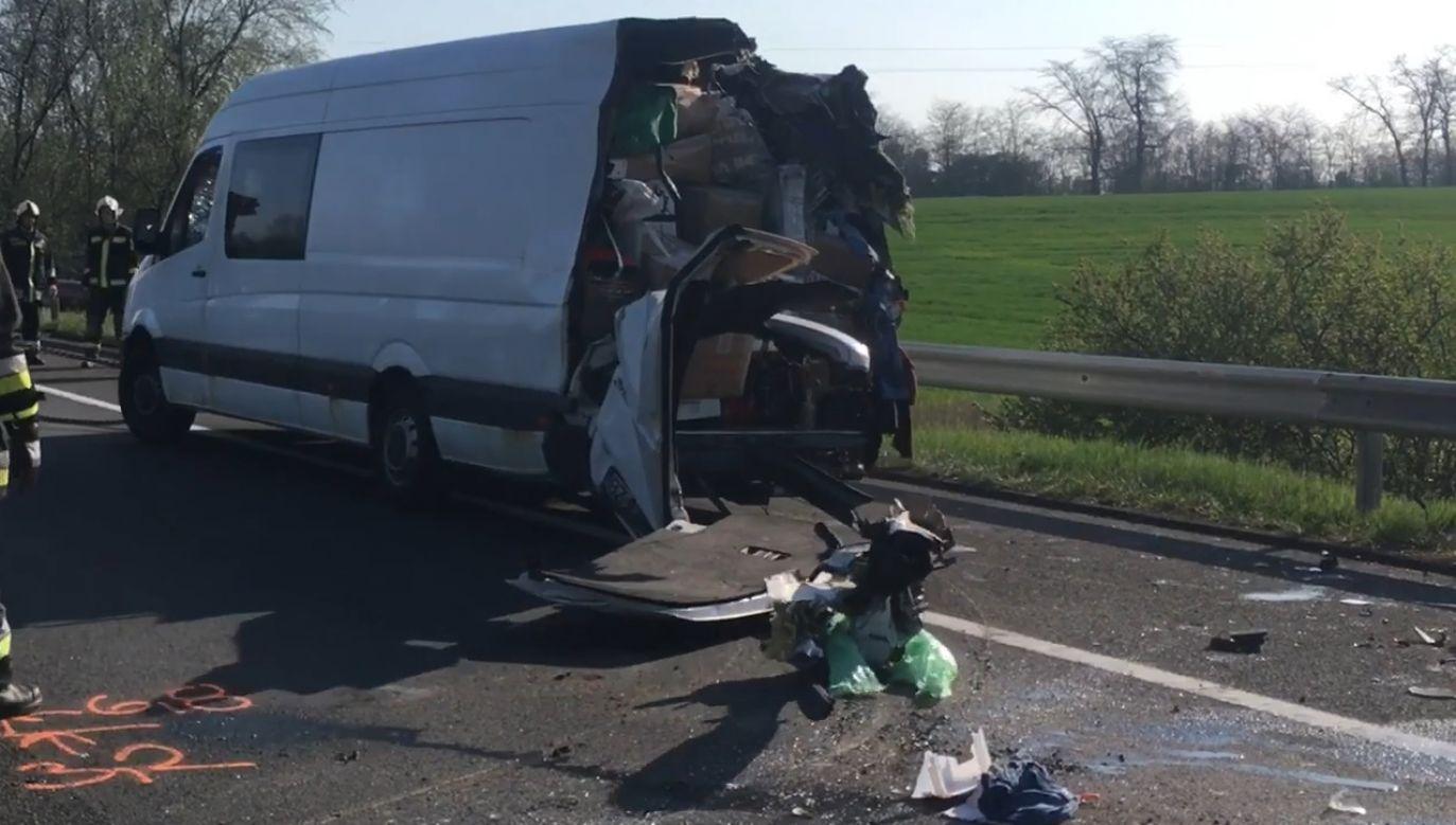 Kierowcę poinformowano, że nie może kontynuować jazdy (fot. Ministerstwo Spraw Wewnętrznych Węgier)