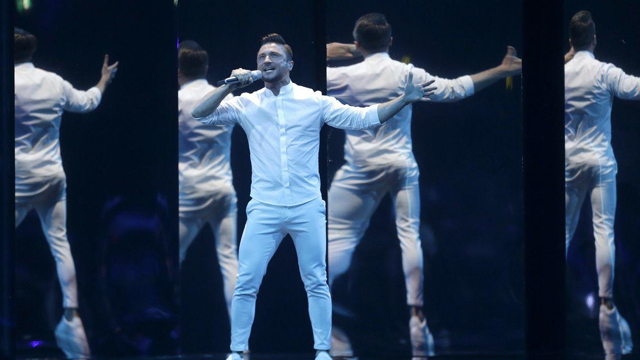 Rosyjski wokalista wystąpił już w finale, w 2016 i zajął trzecie miejsce. Podczas tegorocznego konkursu powtórzył swój sukces (fot. PAP)