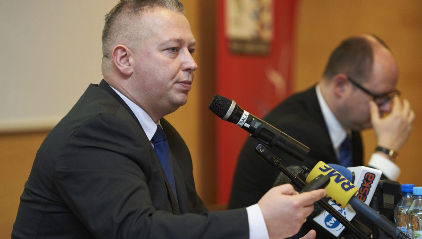 Andrzej Bojanowski i Paweł Adamowicz (fot. PAP/Adam Warżawa)