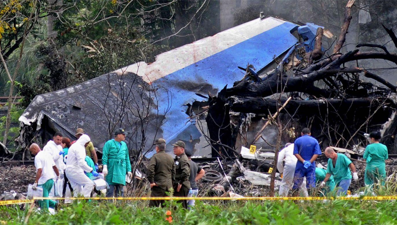 Przyczyny katastrofy jeszcze nie są znane (fot. PAP/EPA/Omara García)