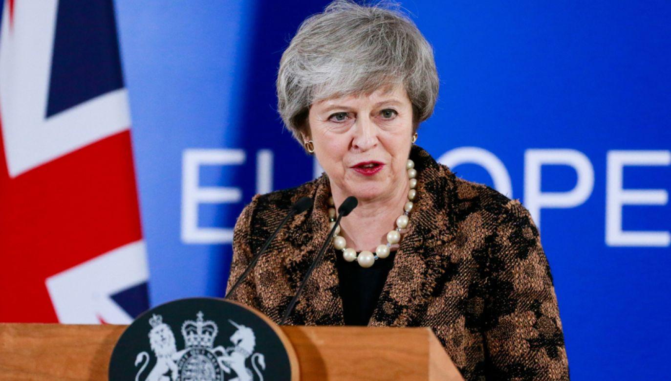 Brytyjskie media krytycznie oceniły udział premier Theresy May w szczycie Rady Europejskiej (fot. PAP/EPA/STEPHANIE LECOCQ)