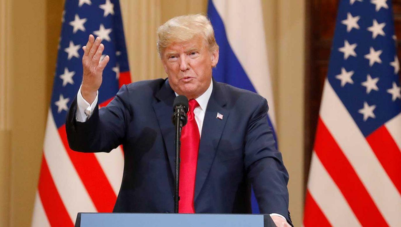 Donald Trump, prezydent USA (fot. PAP/EPA/ANATOLY MALTSEV)