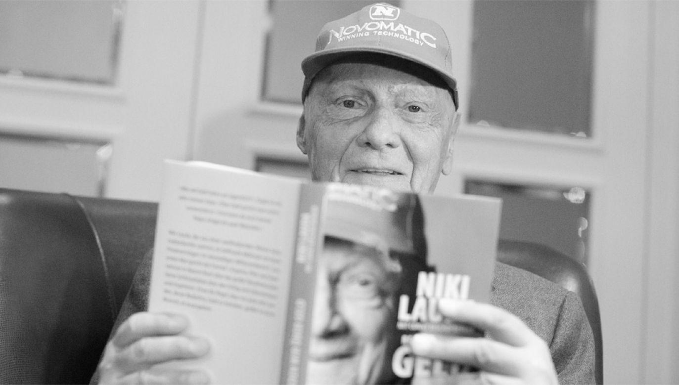 Niki Lauda zdobył trzy tytuły mistrza świata Formuły 1 (fot. PAP/EPA/GEORG HOCHMUTH)