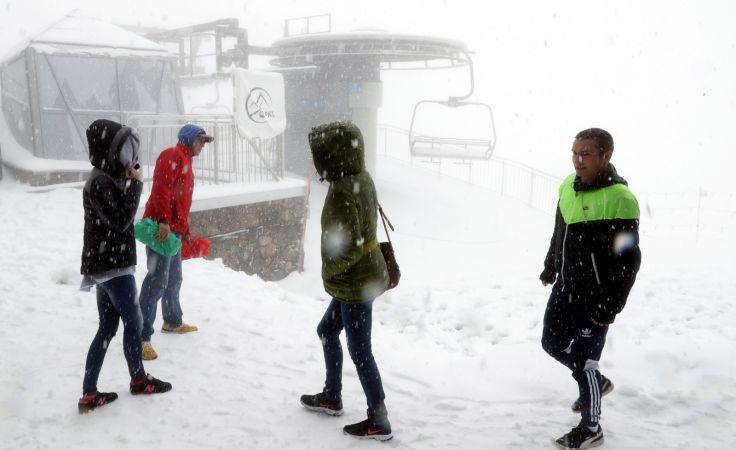 Na szczytach Tatrach intensywnie pada śnieg