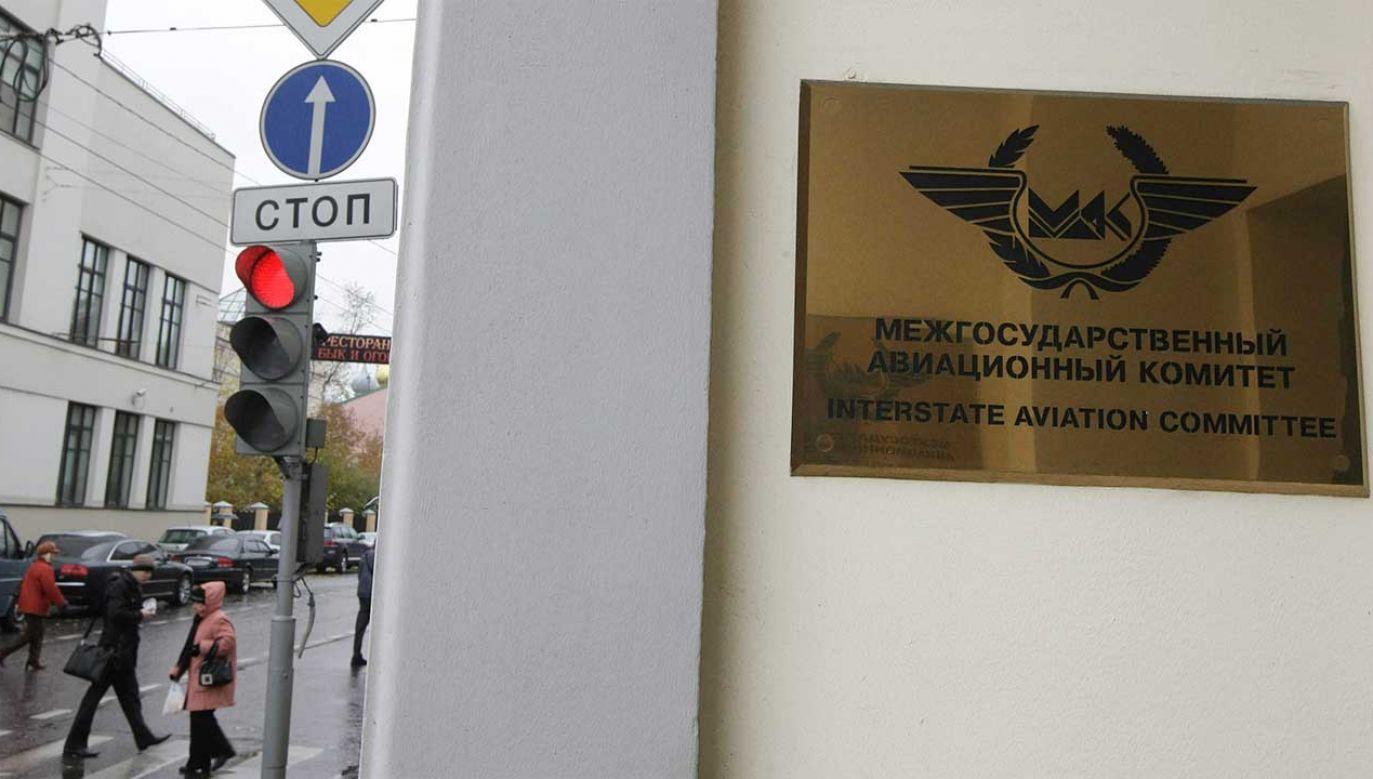 Siedziba MAK (Międzypaństwowy Komitet Lotniczy ) przy ul. Bolszaja Ordynka 22/2/1 w Moskwie (fot. arch. PAP/Grzegorz Michałowski)