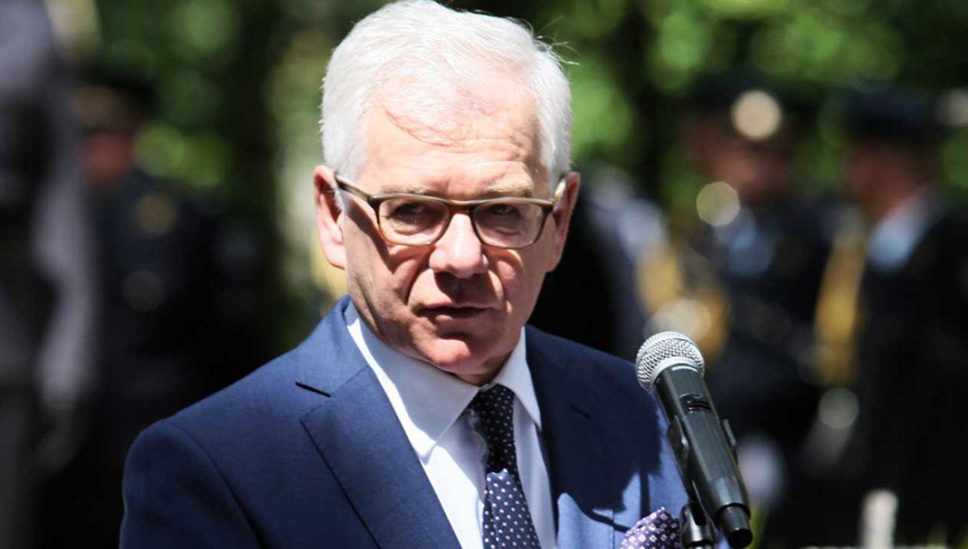 Minister Spraw Zagranicznych o spokoju Polski wobec rozmów w Helsinkach (fot. PAP/Lech Muszyński)