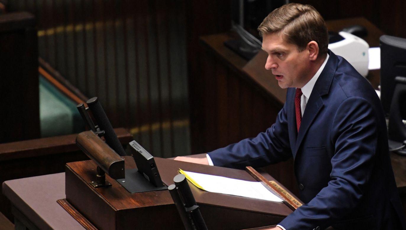 Sekretarz stanu w Ministerstwie Obrony Narodowej Bartosz Kownacki (fot. PAP/Piotr Nowak)