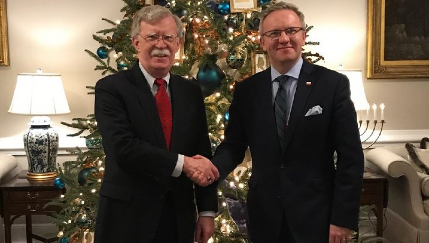 The discussion between the two officials is a continuation of president Andrzej Duda and Donald Trump's dialogue. Photo: twitter/@AmbJohnBolton