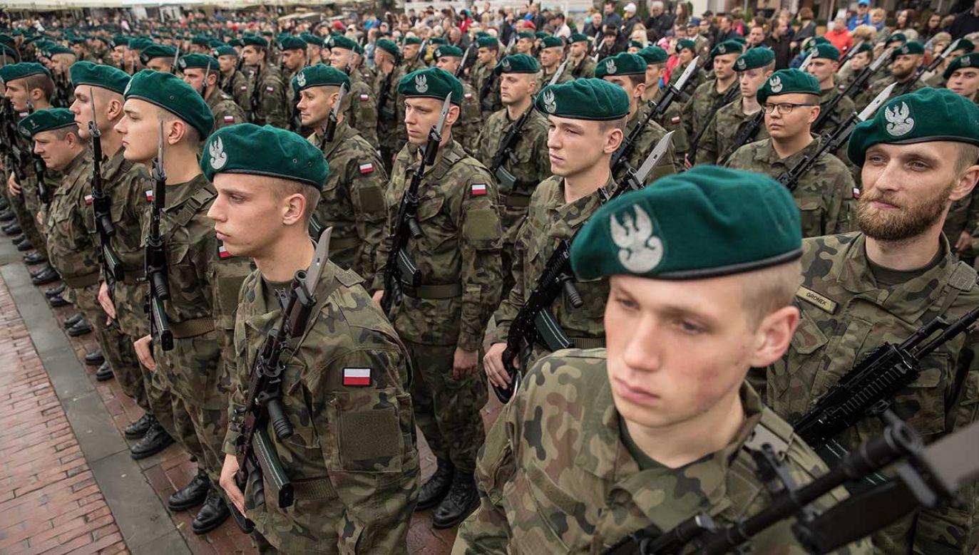 Wojska Obrony Terytorialnej docelowo mają być formacją o liczebności 53 tys. żołnierzy (fot. arch. PAP/Wojciech Pacewicz)