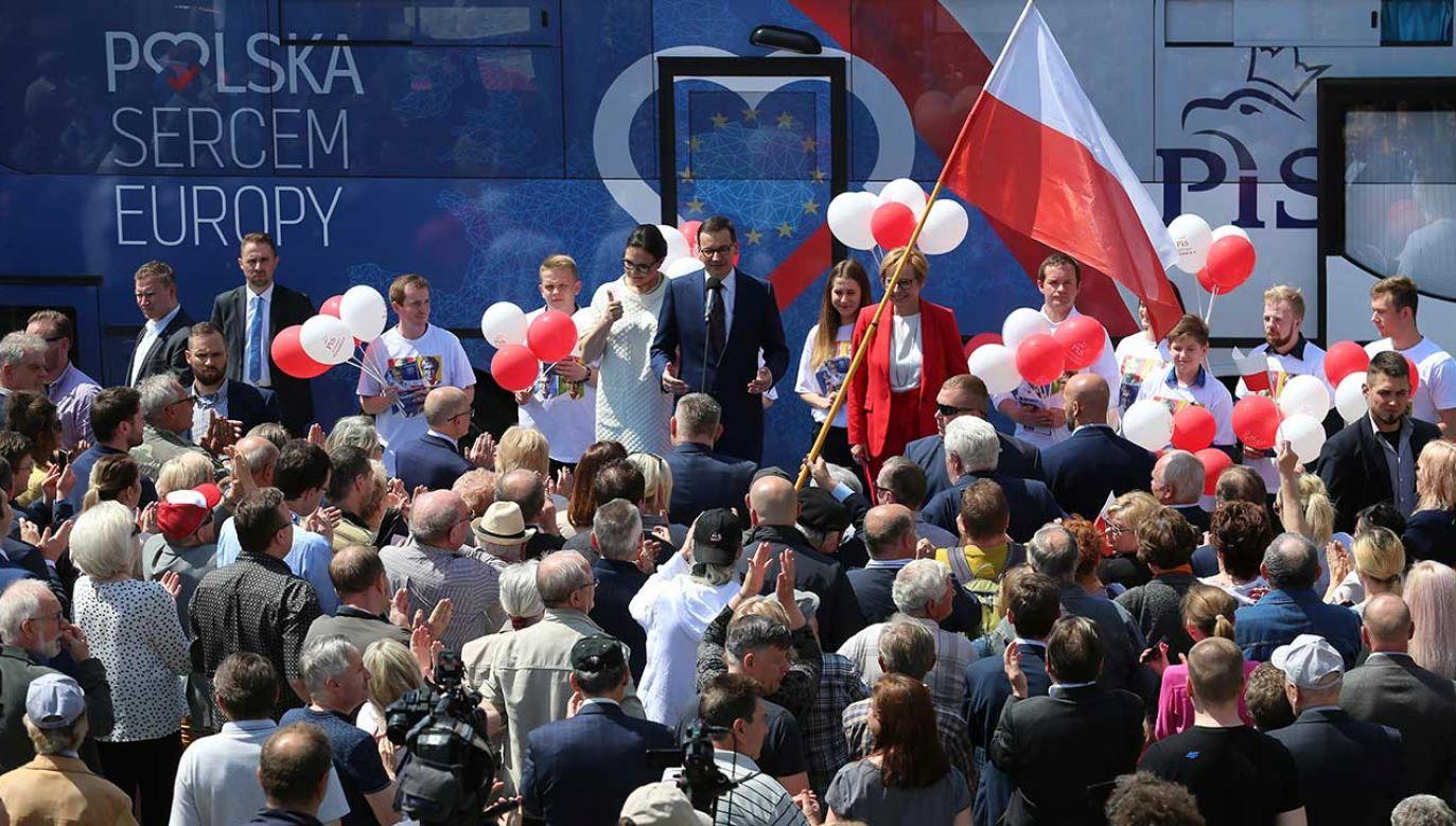 Posłanka PiS przekonywała, że trzeba iść do wyborów do PE, żeby była tam silna, patriotyczna ekipa (fot. arch. PAP/Andrzej Grygiel)