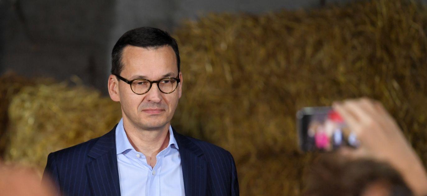 PM Mateusz Morawiecki attended a meeting with voters in Głogów (Toruń county, northern Poland), on Wednesday. Photo: PAP/Tytus Żmijewski