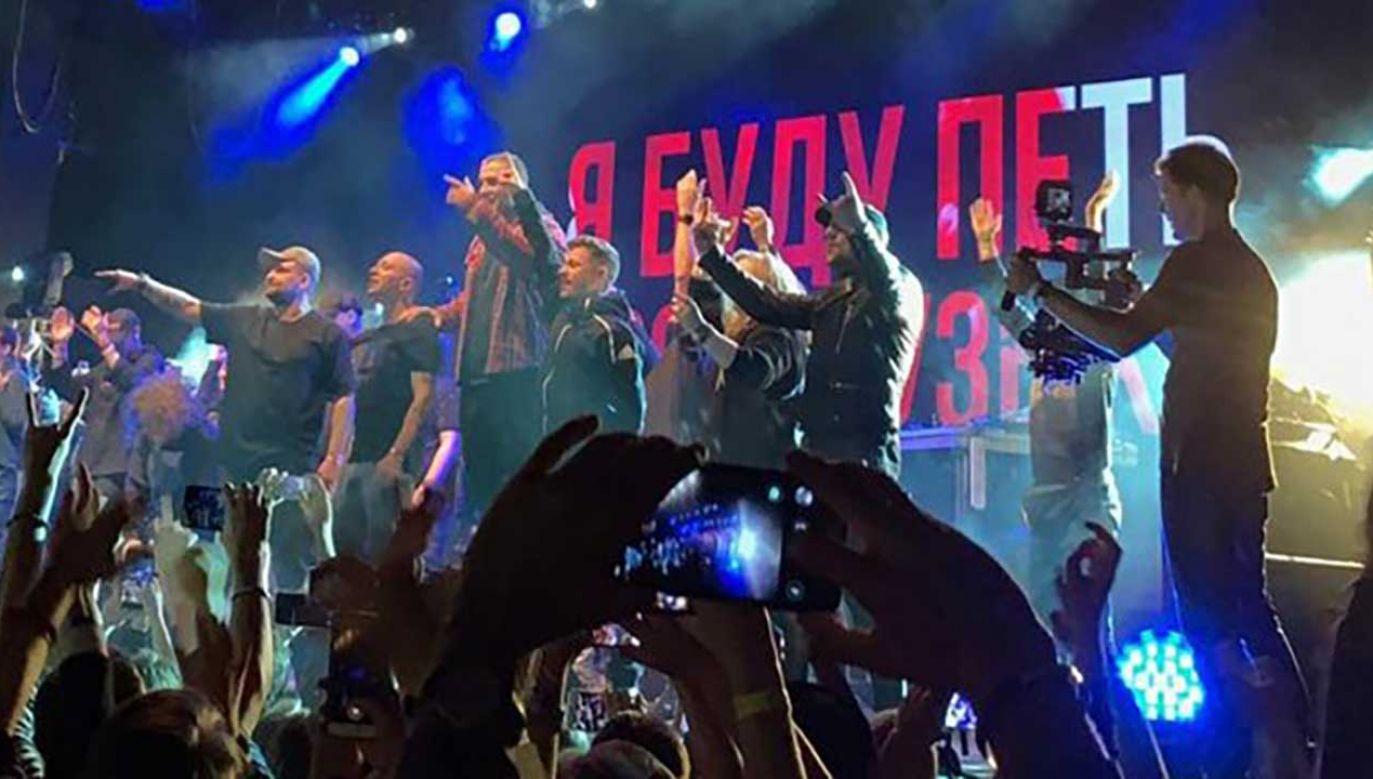 Raper Husky został aresztowany na jednym ze swoich koncertów (fot. TT/ARC)