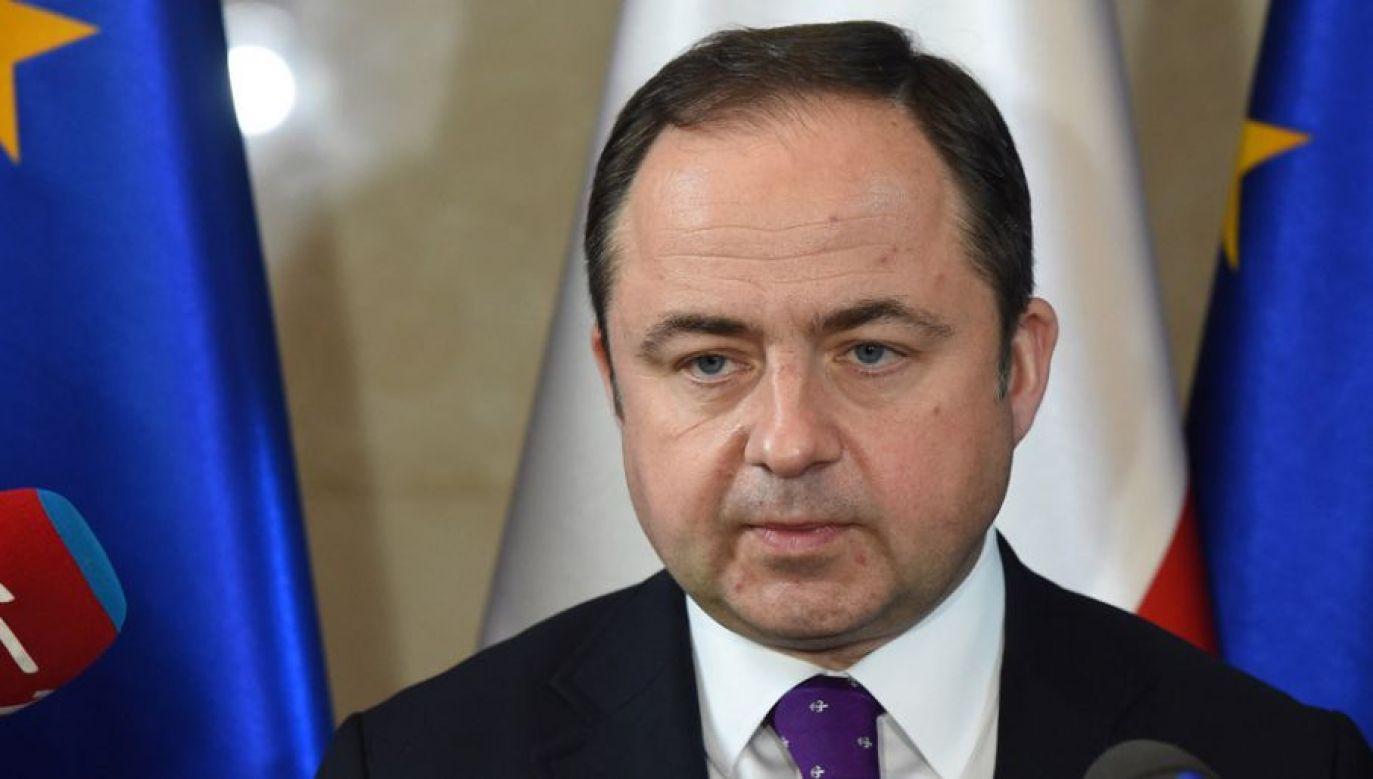 Wiceminister spraw zagranicznych Konrad Szymański (fot. arch. PAP/Radek Pietruszka)