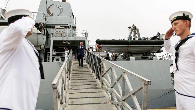 Brytyjski okręt wywiadowczy HMS Echo (fot. Yannis Kolesidis/Pool via REUTERS)