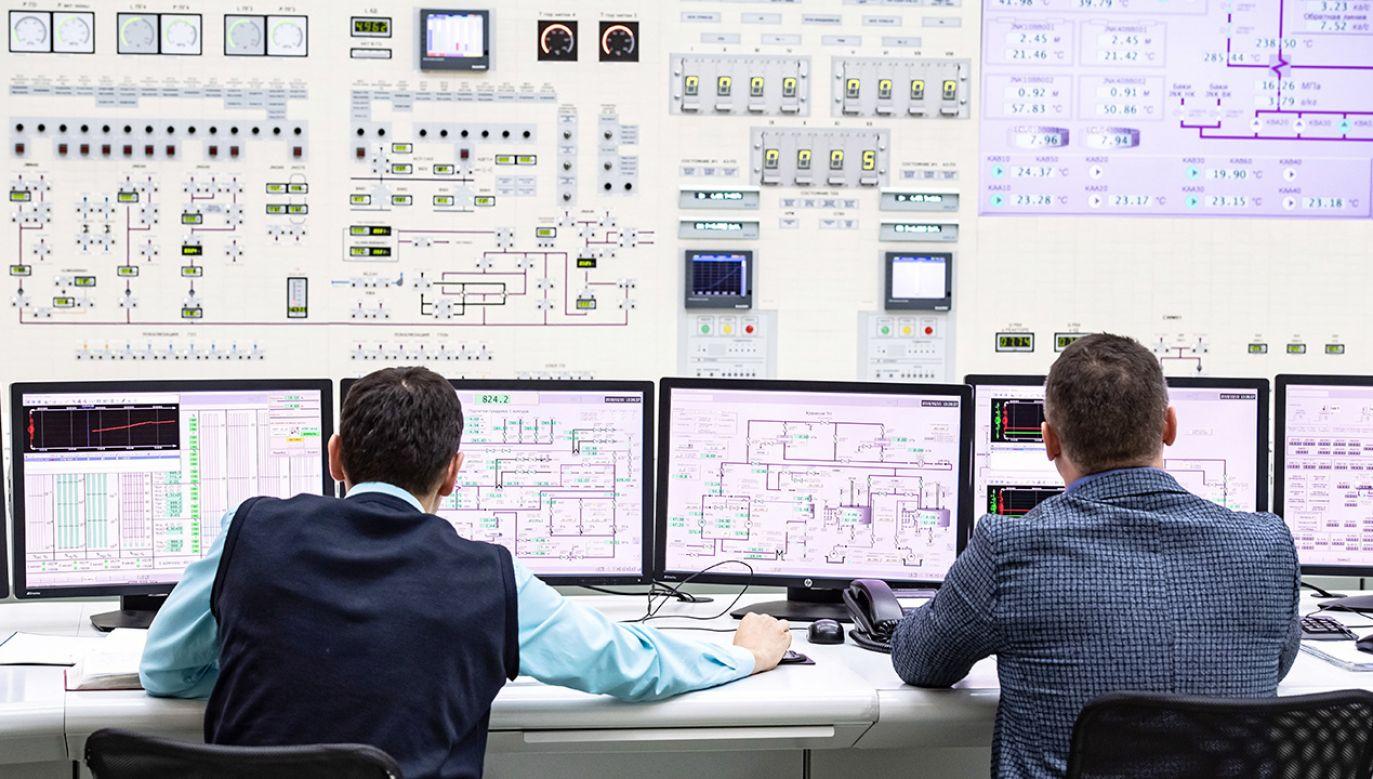 Sterownia elektrowni atomowej (fot. arch. PAP/Wojciech Pacewicz)