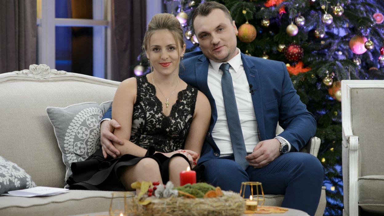– Za rok mam nadzieję, te święta będą wspólne – wyznał Grzegorz. Z Dorotą tworzą parę i optymistyczne, choć ostrożenie patrzą w przyszłość (fot. TVP)