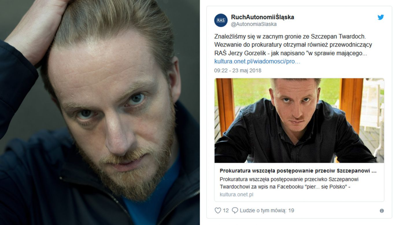 Pisarz Szczepan Twardoch (fot. PAP/Marcin Kaliński/tt/RAŚ)