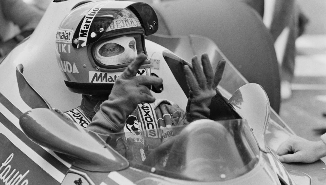 Niki Lauda w 1977 roku (fot. Getty Images)