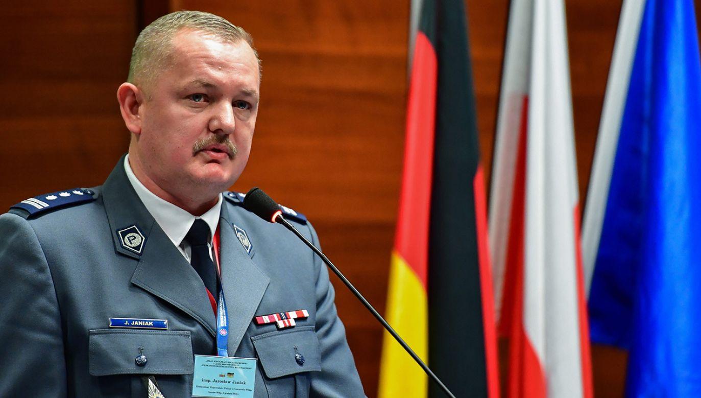 Zdymisjonowany komendant lubuskiej policji Jaroslaw Janiak (fot. arch. PAP/PATRICK PLEUL)