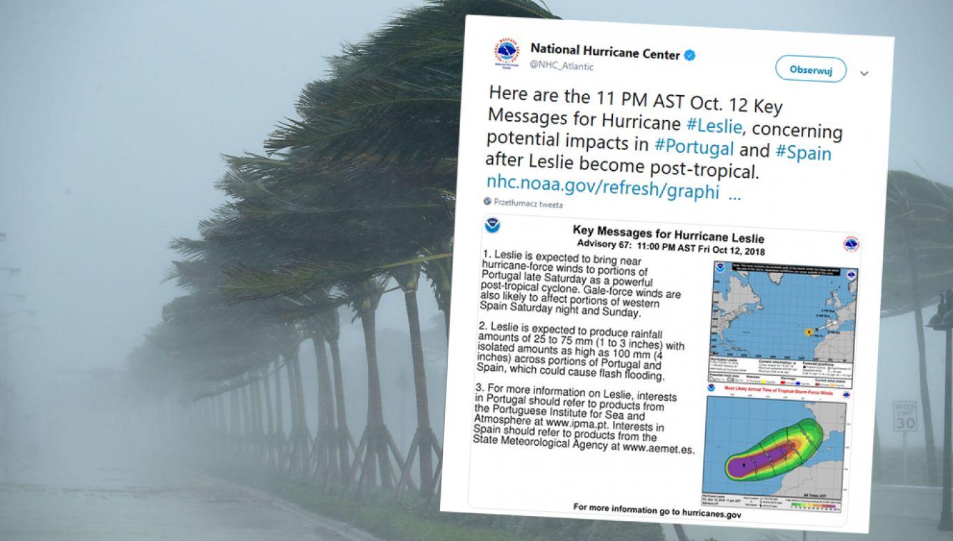 Huragan może przynieść intensywne opady deszczu i wiatry wiejace nawet z prędkością do 130km/h (zdjęcie ilustracyjne) (fot. Chip Somodevilla/Getty Images / Twitter/@NHC_Atlantic)