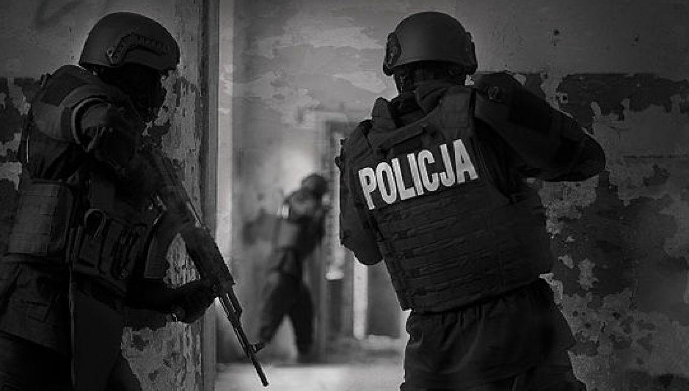 Polscy policjanci w sprzęcie ochronnym (fot. wikimedia.org.)