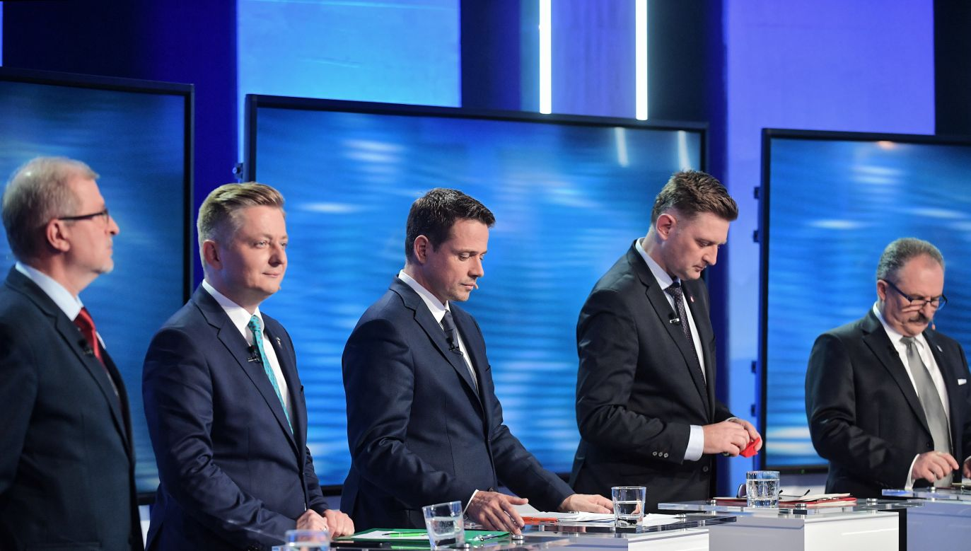 Debata kandydatów na prezydenta stolicy (fot. PAP/Marcin Obara)