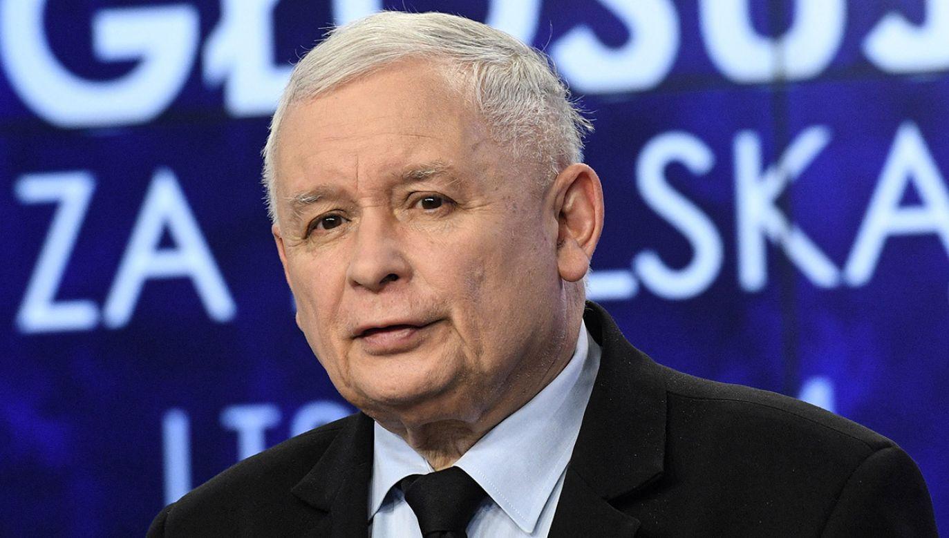 Prezes PiS Jarosław Kaczyński (fot. PAP/Radek Pietruszka)