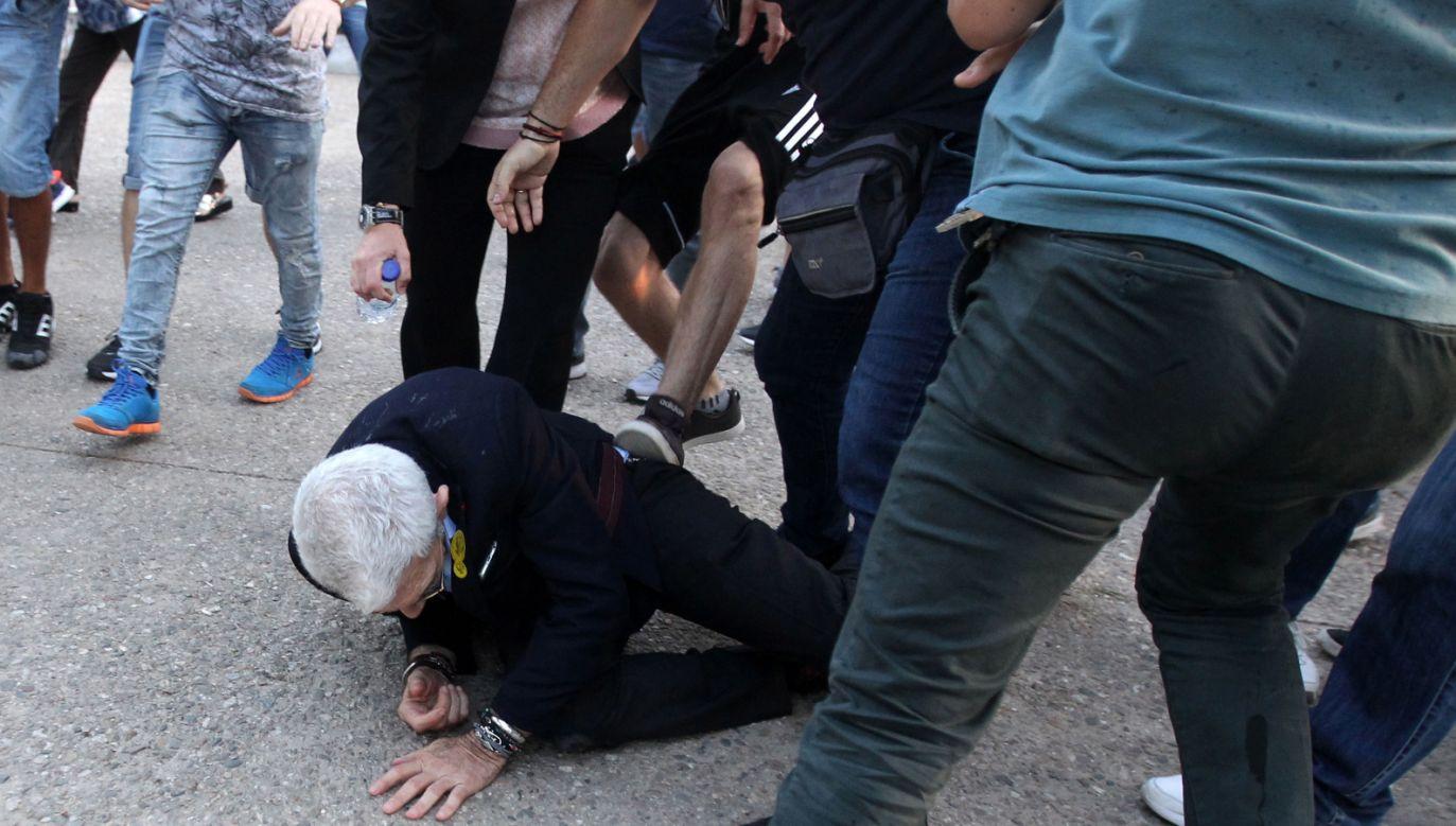 Burmistrz został zaatakowany podczas miejskiej uroczystości (fot. PAP/STR)