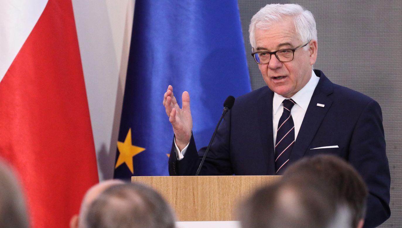 Szef polskiej dyplomacji ocenił pozytywnie przebieg piątkowej rozprawy przed Trybunałem w Luksemburgu (fot. PAP/Paweł Supernak)