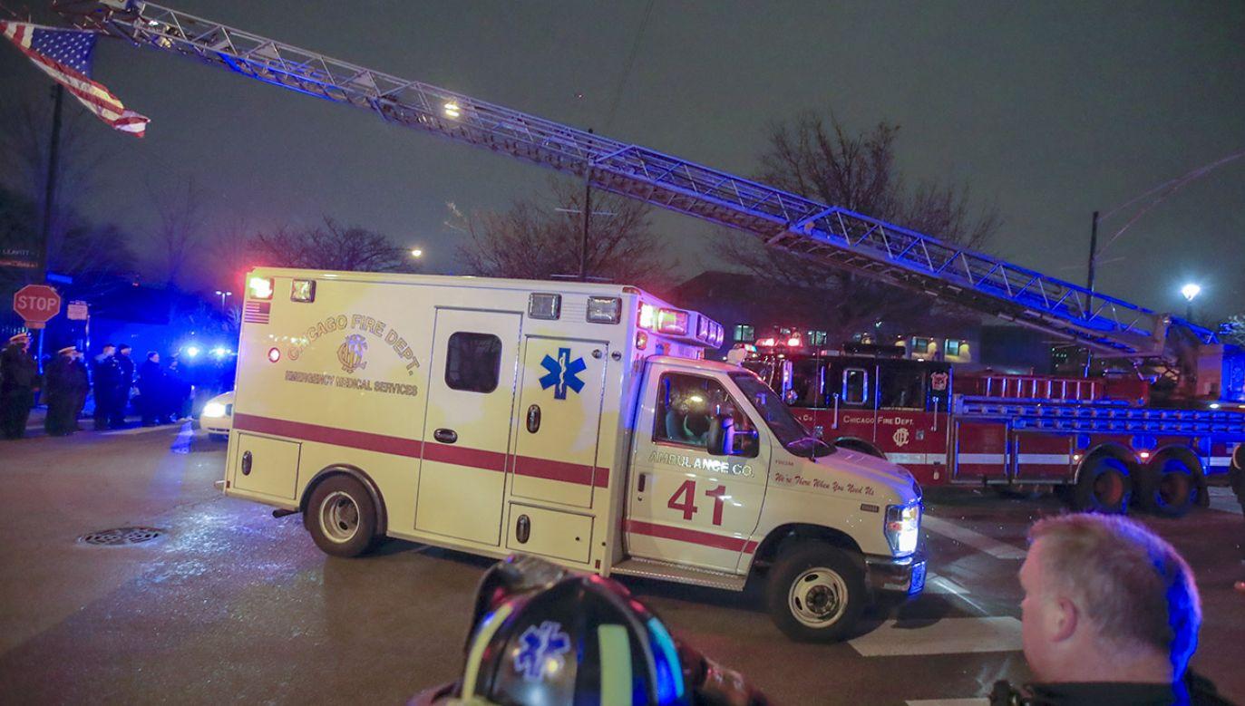 Sprawca strzelaniny w Chicago zginął w wymianie ognia z policjantami (fot .PAP/EPA/TANNEN MAURY)