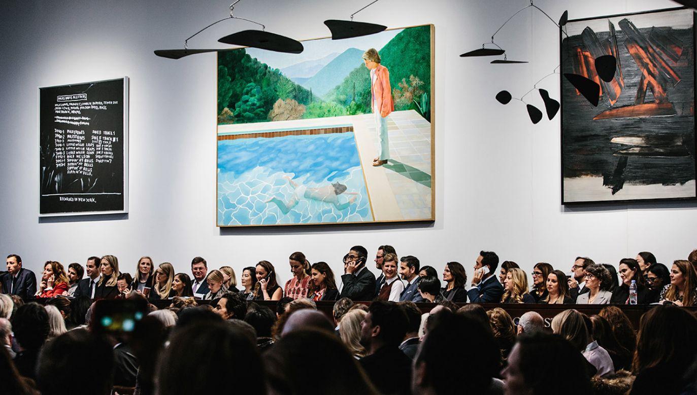 Christie's oszacował obraz olejny z 1972 roku na 80 milionów (fot. PAP/EPA/ALBA VIGARAY)