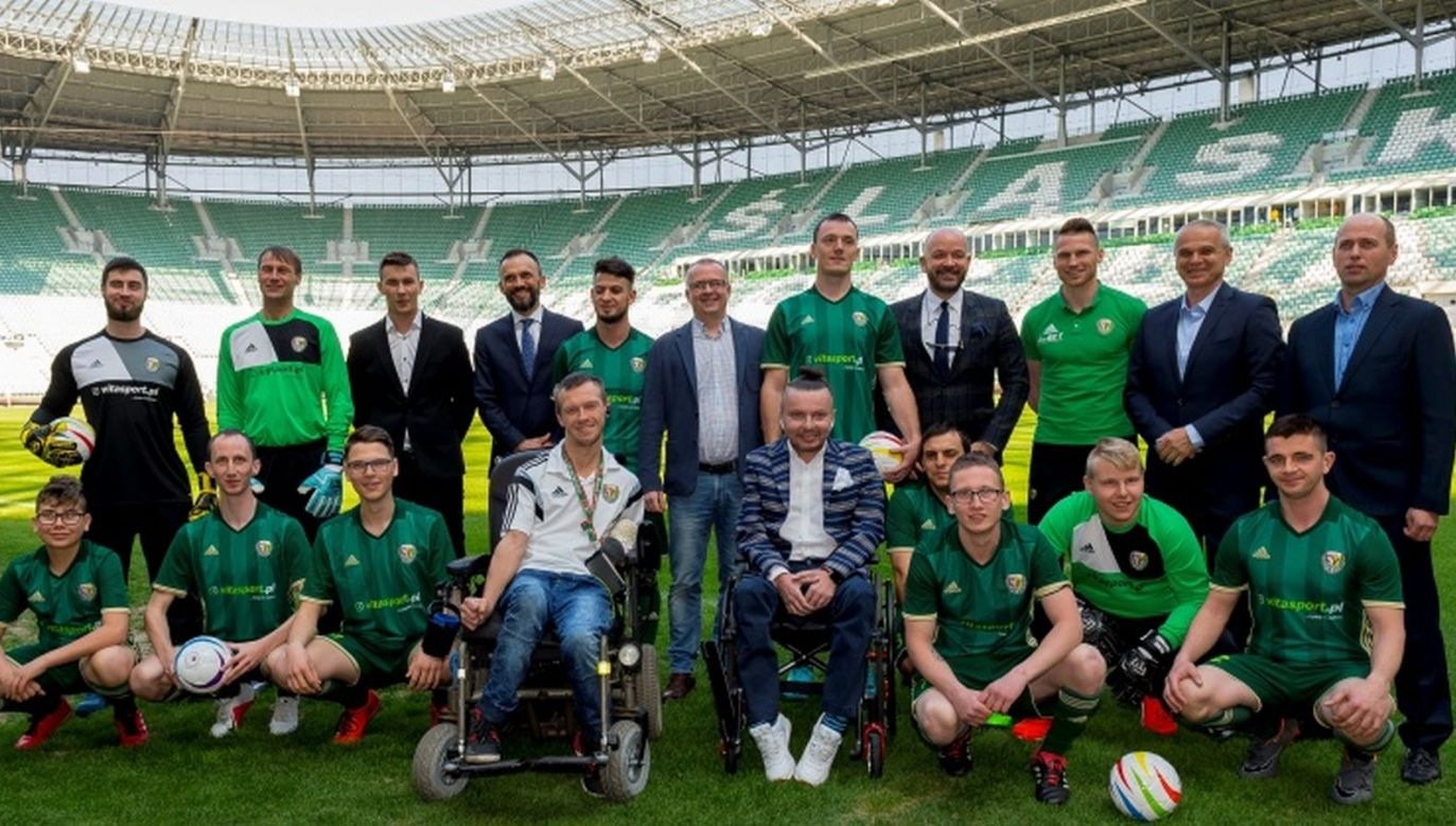 Drużyna blind footballu Śląska Wrocław (fot. Krystyna Pączkowska)