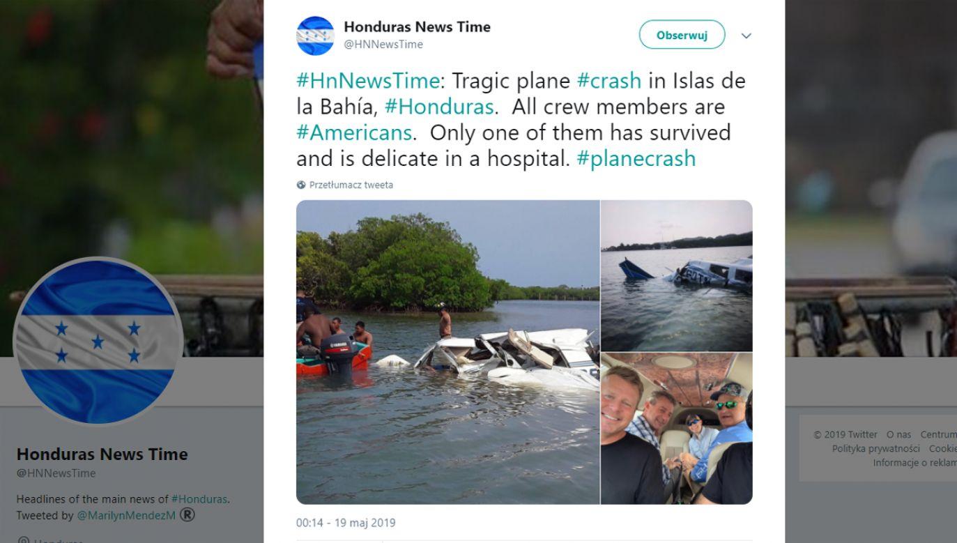 W katastrofie zginęło pięć osób (fot. Twitter/@HNNewsTime)