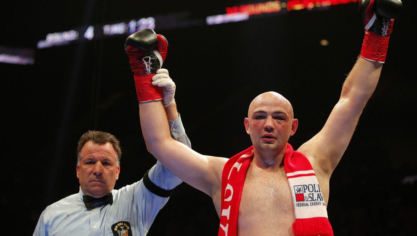 Adam Kownacki pokonał byłego mistrza świata (fot. Rich Schultz/Getty Images)