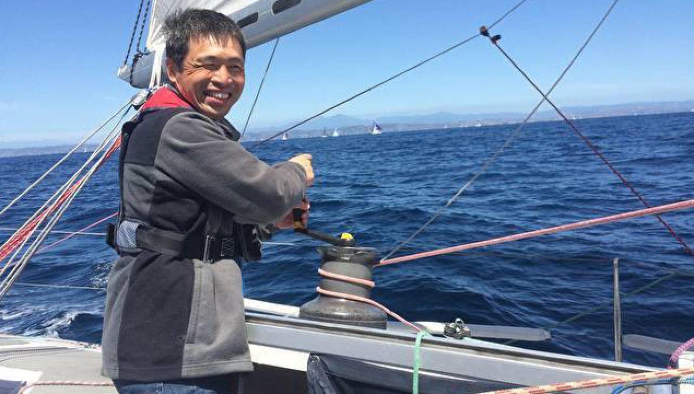 Była to druga próba transoceanicznego rejsu podjęta przez niewidomego żeglarza (fot. FB/Mitsuhiro Iwamoto)