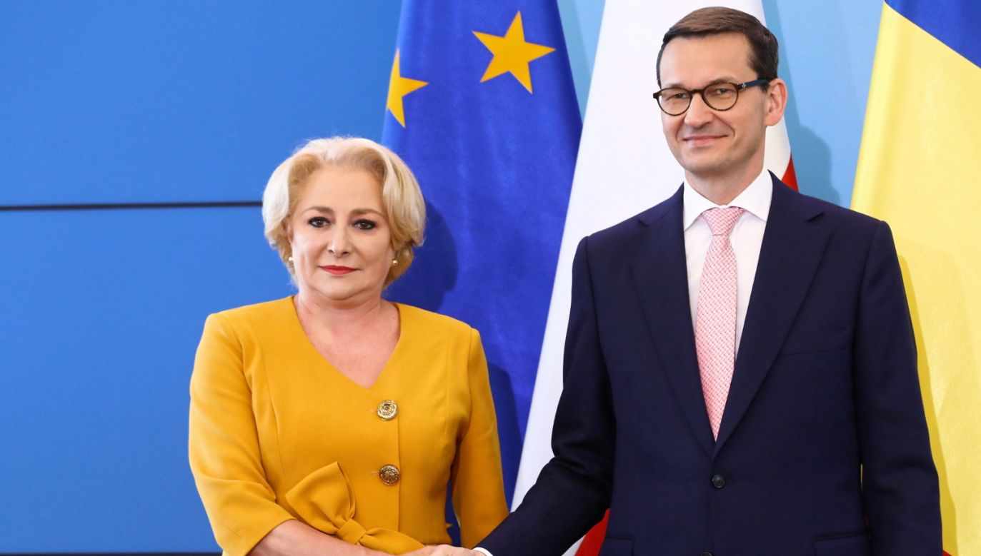 The Romanian PM Viorica Dancila and the Polish PM Mateusz Morawiecki. Photo: PAP/Rafał Guz