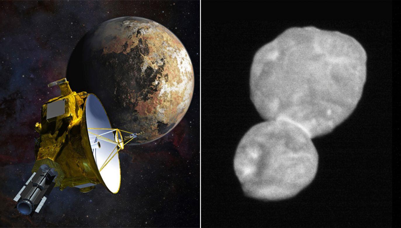 Obiekt Ultima Thule jest odległy od Ziemi o 6,5 mld km (fot. PAP/EPA/NASA/HANDOUT)
