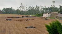 Zniszczenia w miejscowości Huta, gmina Koronowo (fot. Wojciech Wolski)