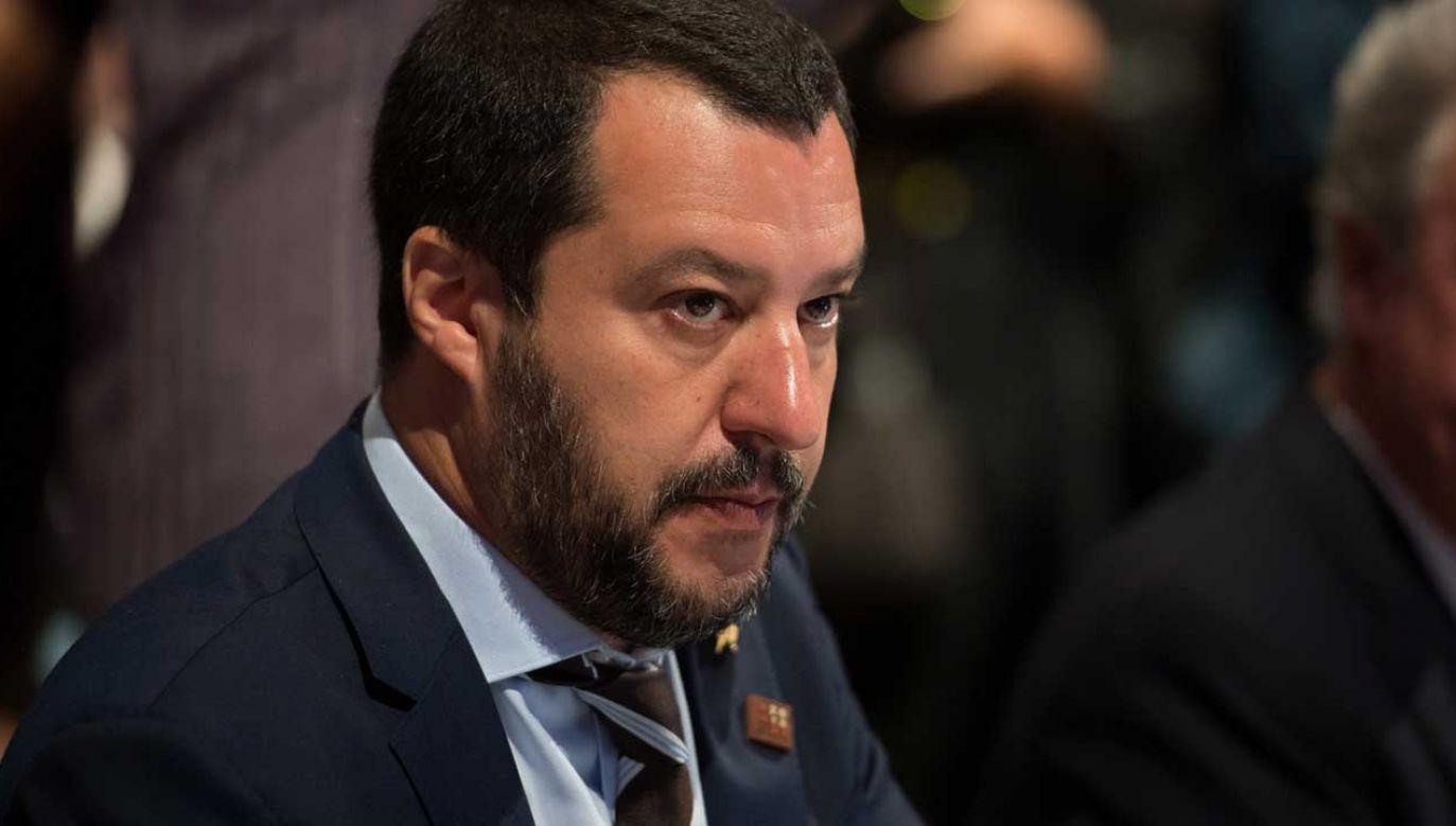 """""""Włochy są krajem europejskim, który stracił najwięcej"""" z powodu sankcji, uważa Matteo Salvini (fot. PAP/EPA/DANIEL KOPATSCH)"""