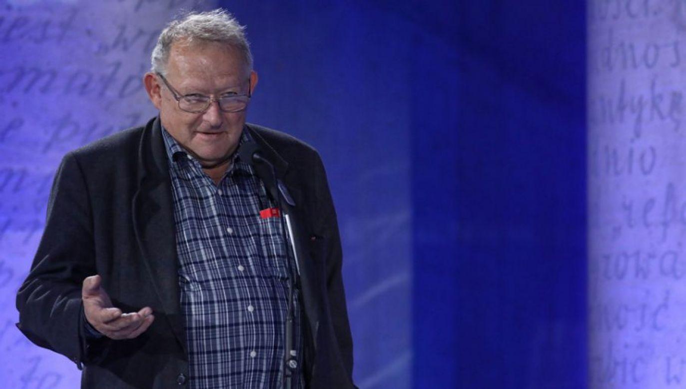 """""""Podobnie jak siedem lat temu redaktor naczelny »Gazety Wyborczej« nie odpowiedział na pytania"""" (fot. PAP/Tomasz Gzell)"""